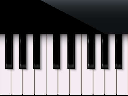 Piano keyboard isolated on white background. Vector music design element