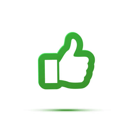 Thumb up like an icon. Good, ok, or follow symbol illustration. Vettoriali