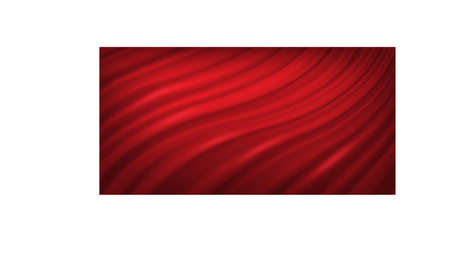 Red luxury velvet or silk curtains. 3d drapery cloth in folds vector illustration. Realistic satin classic decoration on white background. Soft elegant textile decor in waves