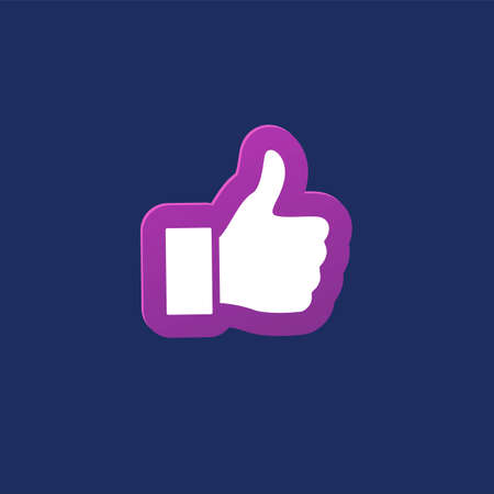 Thumb up like icon. Good, ok or follow symbol vector illustration. Иллюстрация