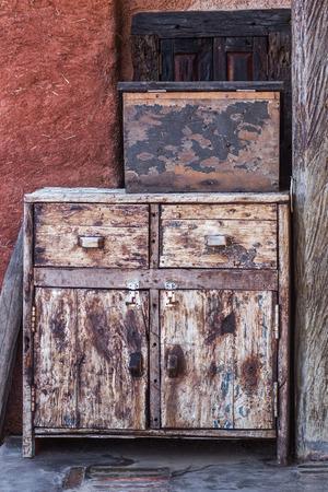 old furniture: Old vintage shabby furniture, wood texture