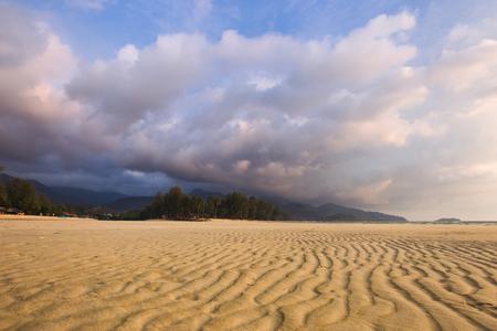 deserted: Deserted beach at low tide