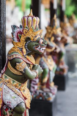 deity: Wooden statuette of the deity in a Balinese temple