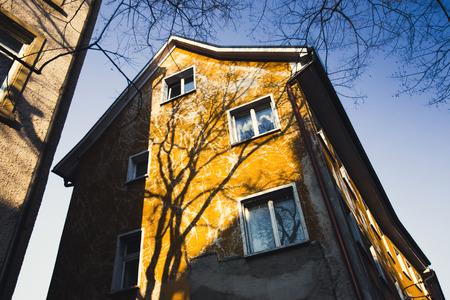 Old european architecture, colorful facades Stock Photo