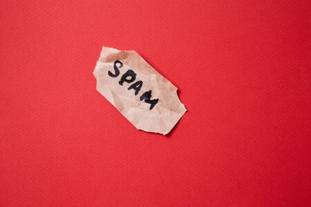 Protect from junk mail or spam e-mail and unsolicited letter. The inscription spam on a piece of paper