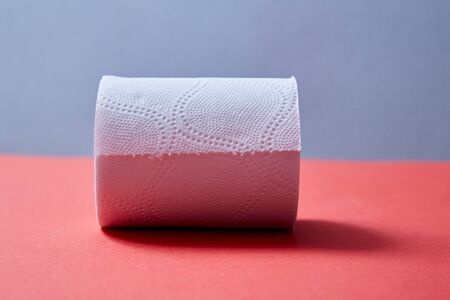 Junk mail or spam e-mail and unsolicited letter idea. Toilet paper with the inscription spam