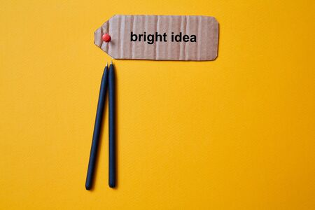 Creative, bright idea and innovation or inspiration concept. Innovation and business solution. Standard-Bild