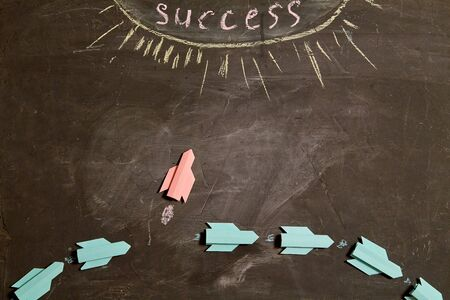 I can. Possible and impossible motivation. Red paper rocket, changing its trajectory.