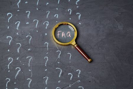 Education, Q and A or question and answer concept. Web search FAQ, analysis and SEO concept.