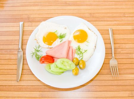 served: Served breakfast Stock Photo