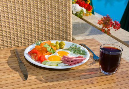 Served breakfast photo