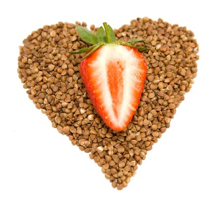 buckwheat: Buckwheat and strawberries