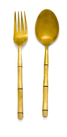 bar ware: Fork and spoon Stock Photo