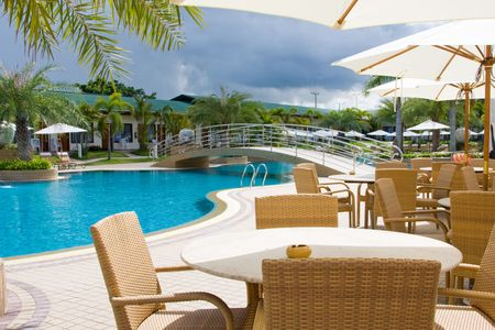 Swimming pool.Pattaya city in Thailand.