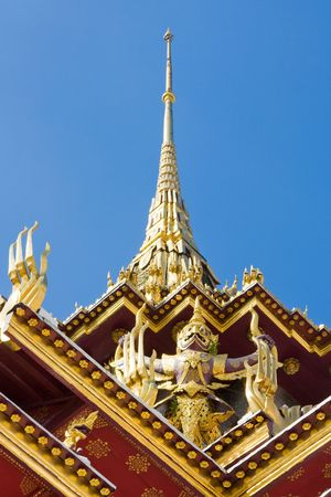 venerate: The temple in the Grand palace area, one of the major tourism attraction in Bangkok, Thailand