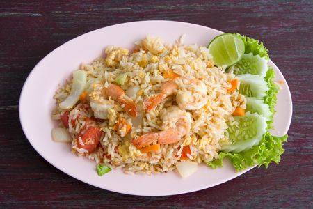 Fried rice with seafood Stock Photo - 5734669