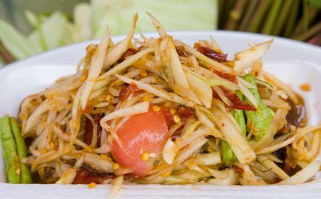 tam: Som tam, spicy papaya salad from Thailand