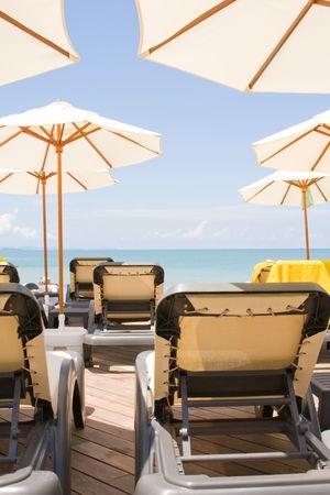 Beach on a sunny day.Pattaya city in Thailand . photo