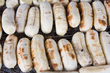 platanos fritos: Pl�tanos fritos a la parrilla