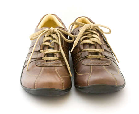 Pair a shoe a brown leather Stock Photo - 5759181