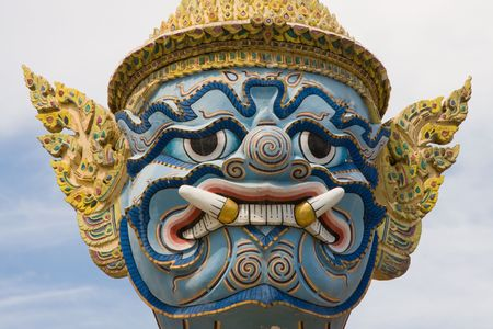 venerate: Traditional Thai sculpture - travel and tourism.