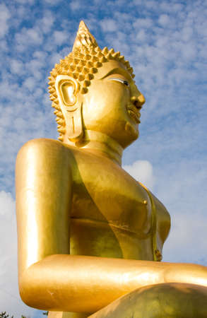 venerate: Buddha image in a temple at Thailand Stock Photo