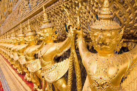 The temple in the Grand palace area in Bangkok, Thailand Stock Photo - 5888942