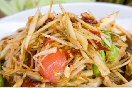 tam: Som tam, spicy papaya salad from Thailand