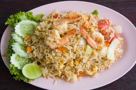 Fried rice with seafood Stock Photo - 5914333