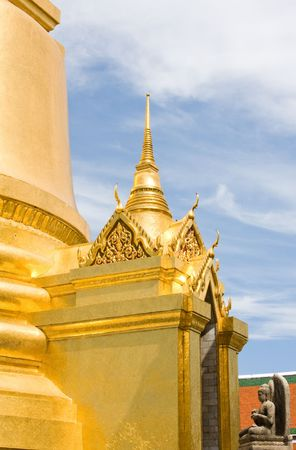 venerate: The temple in the Grand palace area in Bangkok, Thailand