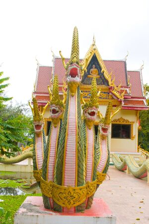 venerate: Asian image dragon in a temple at Thailand Stock Photo