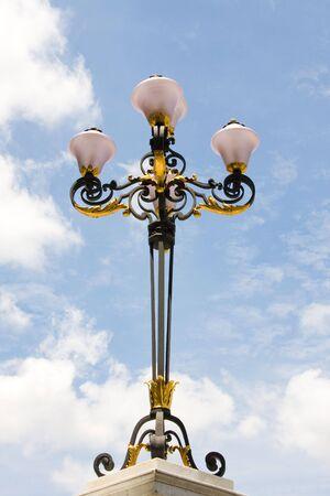 Antique style street lanterns photo