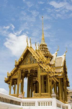 venerate: Thailand, Bangkok.The temple in the Grand palace area.