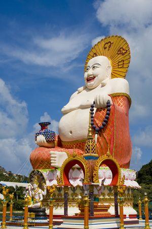 venerate: Stone statue of a Buddha in Samui ,Thailand.