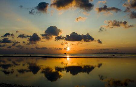 Sunset over the beach, Koh Samui, Thailand. Stock Photo - 6556407