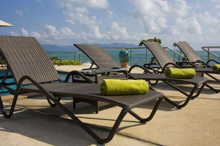 Beach on a sunny day.Thailand . Stock Photo - 6616095