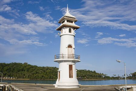 White lighthouse in bay on Koh Chang island, Thailand. Stock Photo - 7208512