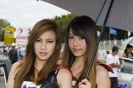 Pattaya - June 26: A GT Queen in action during Super Car Thailand on June 26, 2010 in Pattaya, Chonburi, Thailand.