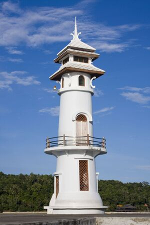 White lighthouse in bay on Koh Chang island, Thailand  Stock Photo - 7268065