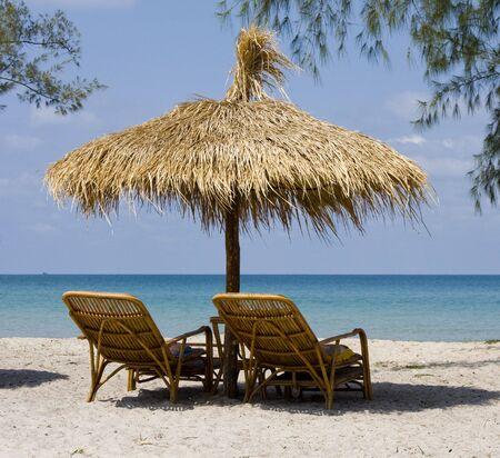 Beautiful tropical beach in Sihanouk Ville, Cambodia  photo
