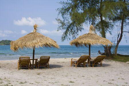 ville: Beautiful tropical beach in Sihanouk Ville, Cambodia  Stock Photo