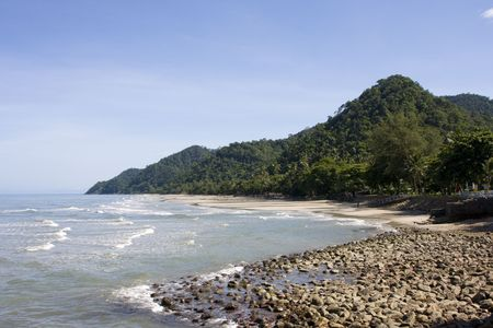Tropical beach at island Koh Chang , Thailand. Stock Photo - 7343146