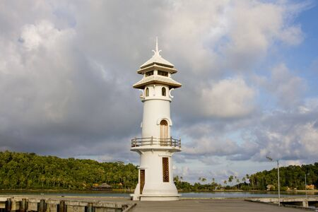White lighthouse in bay on Koh Chang island, Thailand Stock Photo - 7343143