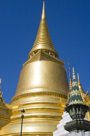 Golden Stupa in Grand Palace, Bangkok, Thailand .  photo