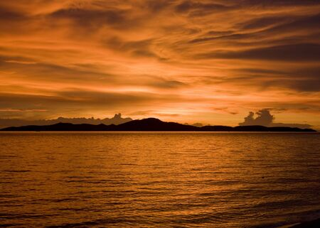 Tropical sunset in the sea. Thailand . Stock Photo - 7708198