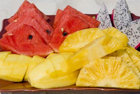 Tropical fruit salad  photo