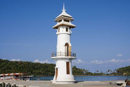 White lighthouse  Stock Photo - 7893450