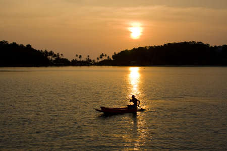 Tropical sunset in the sea. Thailand . Stock Photo - 8173626