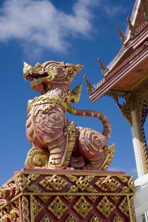 Dragon statue at a temple in Hua Hin, Thailand photo
