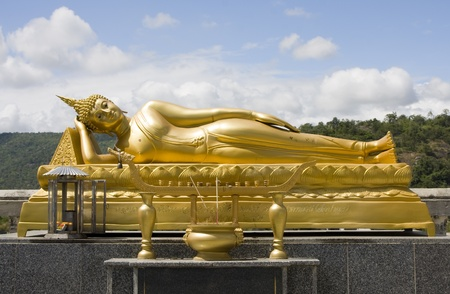 Reclining Buddha in  Hua Hin, Thailand photo